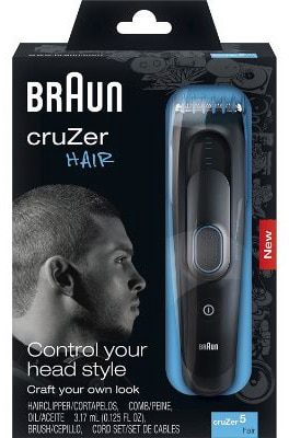 Braun Cruzer 5 Cordless Electric Shavers : Trimmer, Wet & Dry, 3-in-1 Hair Clipper, 8 Settings