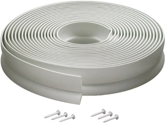 M-D Building Products 3822 Garage Door Seal, #0 Feet, Top and Sides Vinyl, Seal, White