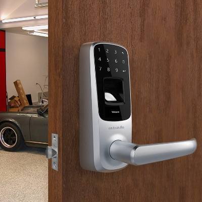 Ultraloq UL3 Fingerprint Keyless Door Lock, Smart Lock with Touchscreen| 3-in-1, Satin Nickel