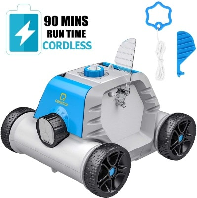Robotic Suction Pool Cleaner With Water Sensor Technology