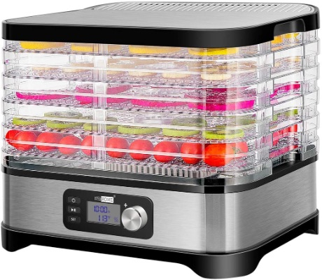 VIVOHOME Electric 400W Food Dehydrator Machine, 5 Trays, Digital Timer, Temperature Control, BPA Free