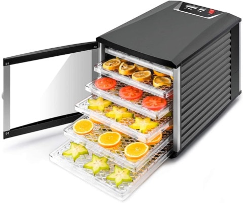 JAYETEC Professional 6-Tray Food Dehydrator, for Fruit, Herbs, Vegetables, Meat, Beef, Flowers, Digital