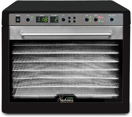 Tribest Sedona Combo Digital SD-S9150-B Food Dehydrator, Black, Stainless Steel Trays